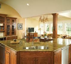 wood countertops craftsman style kitchen cabinets lighting