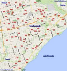 Map Of Toronto Canada by Scarborough Map Of Parks U0026 Diamonds