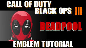 Call Duty Halloween Costumes Black Ops Bo3 Call Duty Black Ops 3 Deadpool Emblem Tutorial