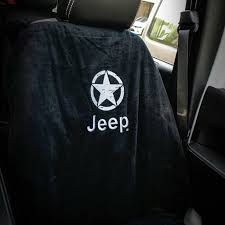 jeep logo jeep seat towel black with oscar mike jeep logo universal u2013 jeep