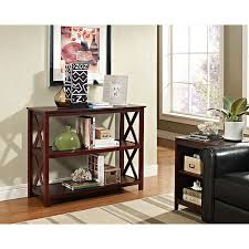 Overstock Sofa Tables Espresso Occasional Console Sofa Table Bookshelf Overstock