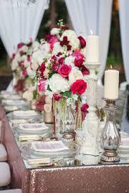 rose gold candy table modern red country wedding inspiration elegantwedding ca