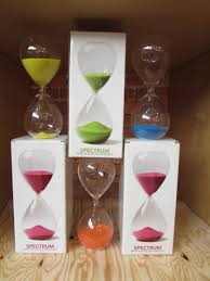 spectrum hand blown hourglass the paper placethe paper place az