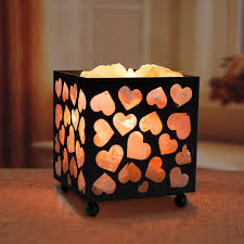 himalayan glow ionic crystal salt basket l himalayan salt nightlight heart basket