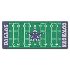 Dallas Cowboys Home Decor Fanmats Dallas Cowboys 2 Ft 6 In X 6 Ft Football Field Rug