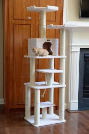 Modern Cat Trees Furniture by Armarkat 78 Inch Cat Tree Ivory Chewy Com