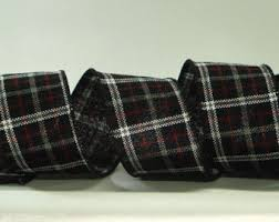 and black plaid ribbon black buffalo check ribbon 2 5 wide by the yard wired