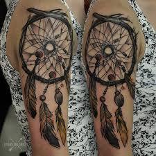 dreamcatcher tattoo upper arm sketch work style dreamcatcher on the upper