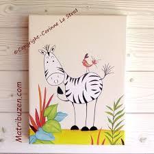 illustration chambre bébé tableau chambre bébé savane jungle oh un oiseau zong le