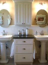 home interior deer picture pedestal sink storage ideas clever pedestal sink storage design