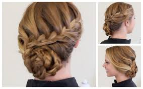 cool prom updo hairstyles with cute bun and braids for long
