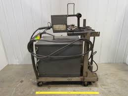 lincoln idealarc 400 amp dc welder w wire feeder gun cart cables