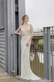 deco wedding dress limor 2015 norma sleeveless beaded sheath blouson deco
