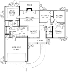 ranch style house plan 4 beds 2 00 baths 1296 sq ft plan 80 102