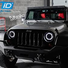 Lumen Jeep Wrangler 2007 2017 7 Round Chrome Projector Led
