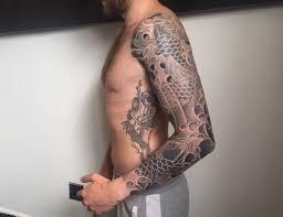 tattoo japanese koi sleeve amazing japanese koi sleeve tattoo by luca ortis half to full