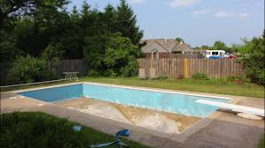 inground pool old liner removal youtube