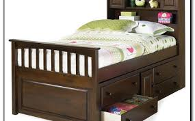 Bookcase Headboard With Drawers Incredible Twin Bed With Storage And Bookcase Headboard Clandestin Within Twin Bed With Storage And Headboard 529x329 Jpg