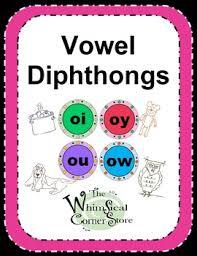 vowel diphthongs original poems worksheets and game boards tpt