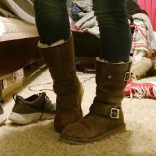 womens ugg leather ankle boots 63 ugg boots sutter ugg leather boots from cayla s closet