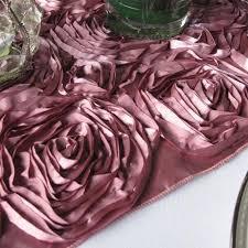 pink rosette table runner dusty rose satin rosette table runner floratouch