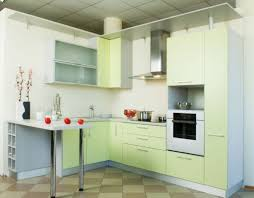 kitchen cheery green kitchen idea with green wall also white