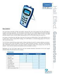 5100 series gauss meters sypris t u0026m fw bell pdf catalogue