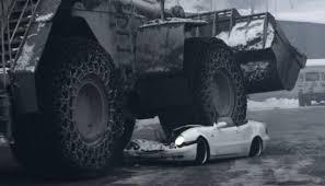 Bulldozer Meme - watch a mercedes clk get crushed by a 70 tonne bulldozer
