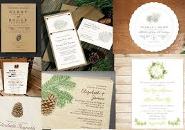 Backyard Wedding Invitations Pinecone Wedding Invitations Rustic Wedding Chic