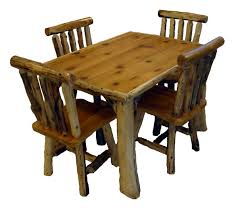 Log Dining Room Tables Rustic Lodge Log And Timber Furniture Handcrafted From