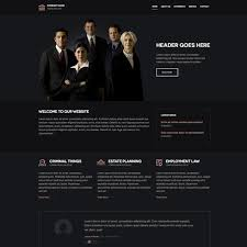 free law firm responsive website template