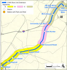 Charlotte Map Cats Lynx Blue Line Extension Us Department Of Transportation