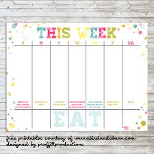 weekly family meal planner template weekly planner template for kids image gallery hcpr organization calendar colorful weekly calendar free printable fy50snad