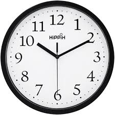 amazon com hippih black wall clock silent non ticking quality amazon com hippih black wall clock silent non ticking quality quartz 10 inch round easy to read for home office school clock home kitchen