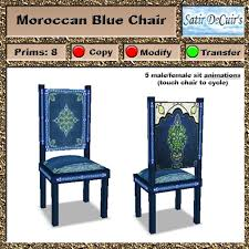Moroccan Chair Second Life Marketplace Arab Moroccan Chair Blue
