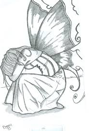 haunted by a sadness drawings angel and fairy