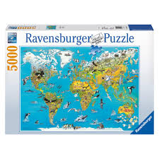 World Map Puzzles by Ravensburger Fascinating Earth 5000pc Jigsaw Puzzle 50 00