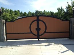 Front Yard Metal Fences - wondrous oak wooden driveway gates with curved top also black iron