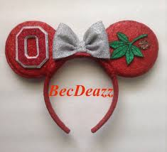mickey mouse ears spirit halloween ohio state university buckeyes minnie mouse ears headband ohio