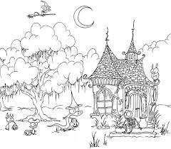haunted halloween coloring pages u2013 festival collections