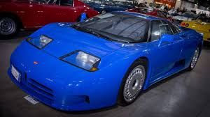 bugatti eb110 crash confiscated car collection makes 54 million at auction