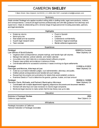 Paralegal Resume Format 100 Paralegal Resume Samples Download Cash Sale Invoice