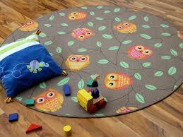 teppich kinderzimmer rund kinder spielteppich eule taupe rund in 7 größen teppiche kinder
