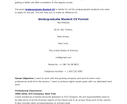 undergraduate resume template undergraduate resume format pdf student curriculum vitae college