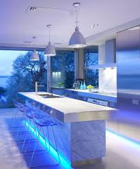 elegant kitchen with led lighting ideas all about house design