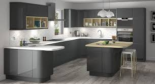 Glossy Kitchen Cabinets Stylish Grey Kitchen Inspiration For Exquisite Homes Grey Gloss