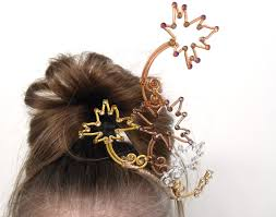 dancing maple leaves autumn forest fairy tiara mixed metals lisa