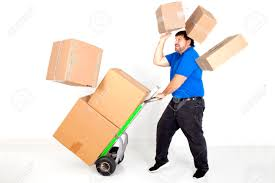 moving accident dropping falling box hand truck dolly boxes