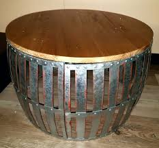 rustic metal coffee table new rustic olive bucket round metal coffee table w wood top