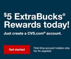 free 5 extrabucks reward for new cvs accounts free product samples
